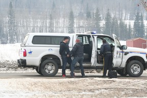 RCMP took a man into custody at about 1:30 p.m. on Feb. 21 during a drug bust. Barry Kerton | Whitecourt Star