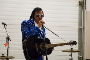 Comedian and Elvis impersonator Gerry 'The Big Bear' Barrett was among the performers at Keeskeemaquah Conference Centre during the All Nations Tribal Days being held in Portage la Prairie, Saturday. (ROBIN DUDGEON/THE GRAPHIC/QMI AGENCY)