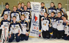 The Cold Creek Comets won the bronze medal in the midget B division at the Ontario Women's Hockey Association Provincial Championships held recently in Ottawa.