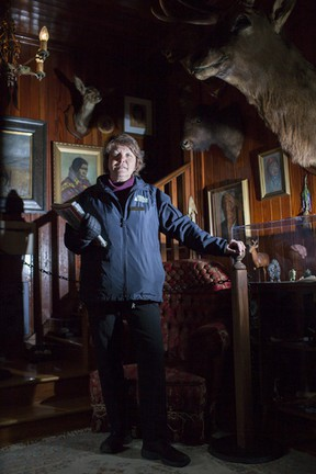 Interpreter Pam Manning stands in the Luxton House's front room, amid its extensive collection of artifacts from Banff's past. The house is just one stop on the Historic Walking Tour, which is held as part of the SpringstART festival. Glenn Kelly/ Banff Crag & Canyon