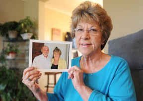 """Corunna resident Marlene Newby, 65, met her half-brother Paul Cornes from the United Kingdom for the first time six years ago. The pair are advocating for changes to Canadian privacy law to help other """"war children"""" find their missing families. TYLER KULA/ THE OBSERVER/ QMI AGENCY"""