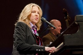 Singer Diana Krall plays  the Rogers K-Rock Centre stage on Sunday night in a make-up concert after her earlier visit was cancelled due to illness.