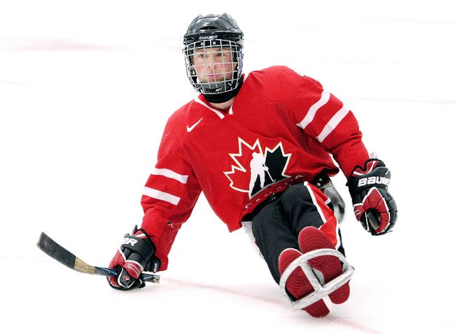 Two-time Paralympic hockey player Derek Whitson of Chatham. (Hockey Canada Images)