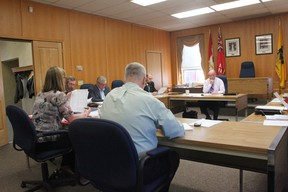 STEPHEN UHLER   Pembroke city councillors conduct the second of six budget meetings Wednesday.