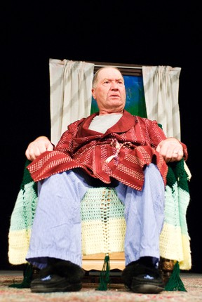 """Greg Tough, from Tumbleweed Productions in Virden, plays curmudgeon Cooper in """"A Month of Sundays"""" during the 35 th Annual Association of Community Theatres Provincial Drama Festival in Portage la Prairie, April 27. (Svjetlana Mlinarevic/The Graphic/QMI Agency)"""