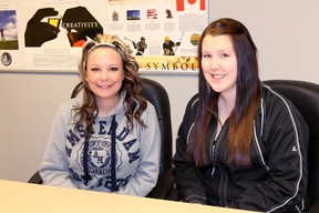 Student council members Colby LaChance and Shelby McSorley talk about Stollery Week at Hilltop High School from May 1 to May 10, a week full of events to raise donations for Stollery Children's Hospital in Edmonton. Johnna Ruocco | Whitecourt Star