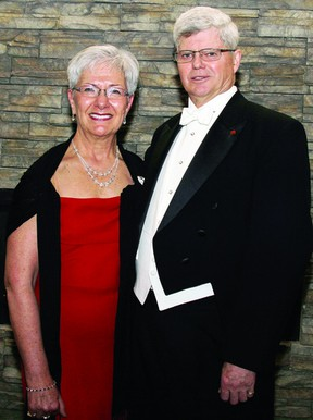 Garry Dowling, Grand Master of Masons in Ontario, and his wife Wendy were in Pembroke to attend a reception in his honour to mark the conclusion of his two-year term in the position. He provided the keynote address at the dinner, held at the Best Western.