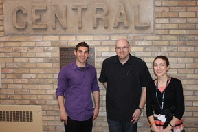 Central Public School was host to a health and wellness event to kick off Mental Health Week at Grand Erie District School Board. Guest speaker and wellness leader Michael Eisen stands with Jeff Senior, Principal of Central Public School and Heather Carter, Mental Health Lead for the board after an engaging evening talking to parents about mental health and well-being.
