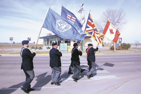 The Legion colour party marched down Veteran's Way, kicking off the Spring Rally the morning of Saturday, Apr. 27. The rally brought well over a hundred delegates to the local branch, but president Dave Watt is warning that a recent drop in participation is endangering the viability of the Devon Legion.