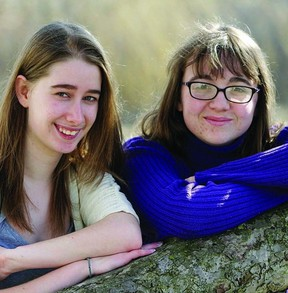 Two high school students, Ashley Clark (left) and Hannah Ellsworth, are hoping to raise money to help fellow youth artists get published with an afternoon arts fundraiser on May 5.      ROB MOOY - KINGSTON THIS WEEK