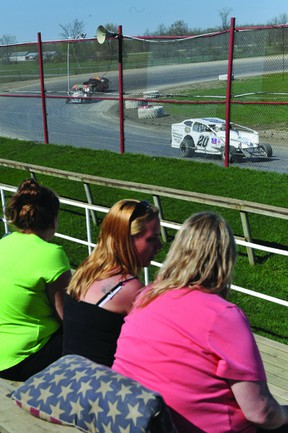More than 100 race fans and 40 drivers turned out for an open practice session Saturday at the Brockville Ontario Speedway. (NICK GARDINER The Recorder and Times)