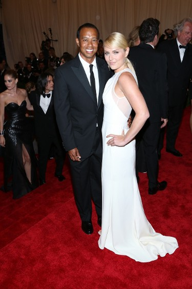 """Star: Woods and Lindsay Vonn,Grade: C The couple made their red carpet debut in less-than-punk styles. Vonn's Ellie Saab was flowy and showed some leg, but it's far from punk. Tiger's black tux was oh-so-boring.(Andres Otero/WENN.com)   PDRTJS_settings_6852542 = { """"id"""" : """"6852542"""", """"unique_id"""" : """"default"""", """"title"""" : """""""", """"permalink"""" : """""""" };"""