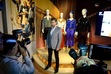 Bjorn Ulvaeus, former member of the Swedish pop group ABBA, is photographed during a press preview of 'ABBA The Museum' at the Swedish Music Hall of Fame in Stockholm, May 6, 2013. ABBA's collected works will be showcased at the new exhibit venue, opening on Tuesday.  REUTERS/Janerik Hanriksson/Scanpix Sweden