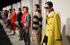 Models present creations from the J.Crew Fall/Winter 2012 collection during New York Fashion Week.  REUTERS/Kena Betancur