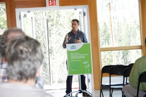 Peter McLeod of MASS LBP speaks at the Banff Community Foundation's  eighth annual Spring for Community event on Wednesday, May 8, 2013 about 2017 Starts Now, a program to engage Canadians in the lead-up to Canada's sesquicentennial celebrations. Russ Ullyot/ Banff Crag & Canyon/ QMI Agency
