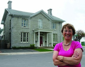 Marion Westenberg, committee chair of the Music Lovers' House Tour, stands before a century-old home at 66 Main St. The historical home is one of several stops included in this year's tour presented by the volunteer committee of the Kingston Symphony.        ROB MOOY - KINGSTON THIS WEEK