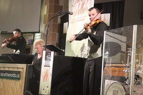 Scott Woods brought his  Swingin' Fiddles show to the Melfort United Church on Saturday, May 18, Woods performed for a packed house as he is very popular each year when he comes to Melfort.