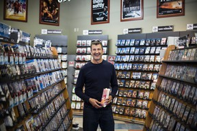 Long-time Canmore resident Mike Vlessides rescued Avalanche Movie Co. from closure this month by purchasing the business. The store will relocate to a vacant space across from Safeway, next to Starbucks. Justin Parsons/ Canmore Leader/ QMI Agency