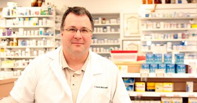 Erin Steele/R-G  Local pharmacist and pharmacy-owner Michael Kinshella is among a growing number in his profession province-wide who are concerned the Alberta governmentís move to lower the cap on the cost of generic drugs will negatively impact patient care.