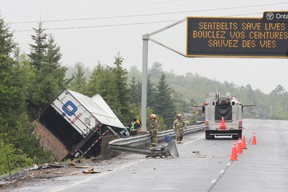 Accident has closed Highway 17 West from MR 55 to Highway 144 near Lively. JOHN LAPPA/THE SUDBURY STAR/QMI AGENCY