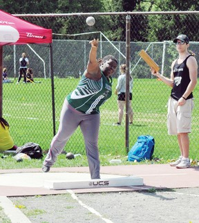 Submitted photo General Panet's Christina Ikerenge, seen here at the National Capital High School meet earlier this month, was one of several Panthers who recently competed at the county's in Arnprior. For more community photos please visit our website photo gallery at www.thedailyobserver.ca.