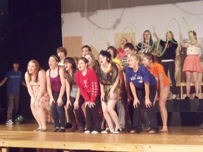 Students enrolled in the Musical Theater class at Saugeen District Secondary School have been busy getting their songs, lines and choreographed dances ready for their upcoming performances of Mood of Broadway.