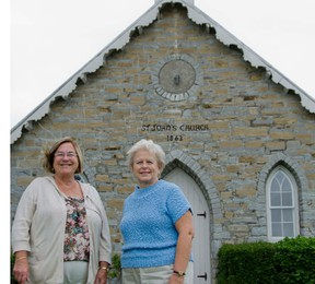St. John's Anglican Church wardens Sharon Patterson and  Lynda Russell (l-r) are looking forward to celebrating the Sunbury church's 150th anniversary on June 9.  The Sunday service will include guest speaker The Right Rev. Michael Oulton and will be followed by a reception at the Storrington Centre with treats provided.  The general public is welcome to attend.      JULIA McKAY - KINGSTON THIS WEEK
