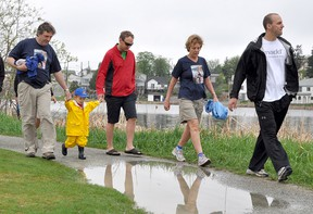 The Timmins and area Mothers Against Drunk Driving chapter joined with other chapters throughout the country for the annual Strides for Change walk on Saturday at Gillies Lake. Dozens of walkers were on hand for the event, including the Lambert-Belanger family pictured. Justin Lambert-Belanger was killed among eight others in Sept. 2001 when a drunk driving struck the van they were travelling in head on.