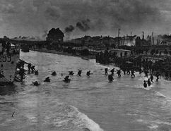 Canadians storming Juno Beach on June 6, 1944