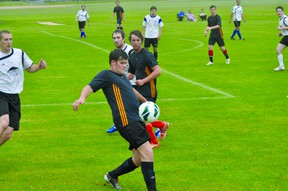 Action from the Portage United/United Weston game on June 9. (Kevin Hirschfield/THE GRAPHIC/QMI AGENCY)