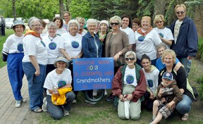 Seventeen family groups participated in Sunday's Stride to Turn the Tide Walk, starting at Vopni Park on Saskatchewan Avenue East. (CLARISE KLASSEN/PORTAGE DAILY GRAPHIC/QMI AGENCY)