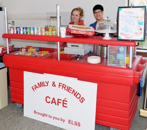 Two ELSS students, Kristin Sinclair and Miles Reid, have been operating the Family and Friends Cafe in the lobby of the White Mountain building since March. Photo by KEVIN McSHEFFREY/THE STANDARD/QMI AGENCY