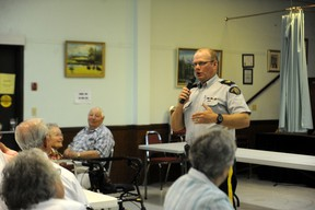 Sgt. Mike McGinley speaks at the Seniors Week celebration held at the Vermilion Senior's Centre on Tuesday, June 4.
