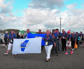 Team Alberta participants march during the opening ceremonies of the previous Canada 55+ Games in Cape Breton in 2012. Photo supplied