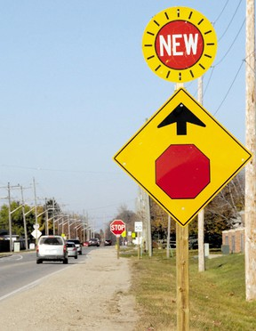 The all-way stop sign on Fairview Avenue at Axford Parkway. The intersection is included in the class environmental assessment to be presented to city council on Monday. (File photo)