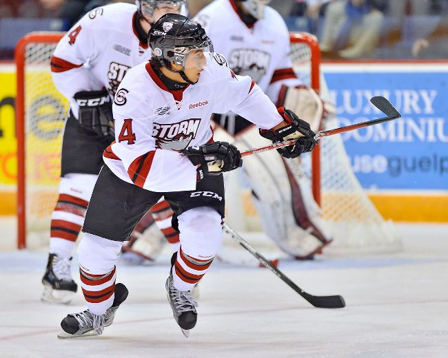 Ex-Maroon Patrick Watling has been traded from the Guelph Storm to the Soo Greyhounds. (TERRY WILSON/OHL Images)