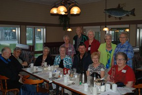 The members of the 1952- '53  Normal School met at Smitty's in Melfort on Friday afternoon.