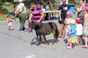 Blayr Legir and her horse Mia were a hit amoungst the young children. Photo by JESSICA BROUSSEAU/THE STANDARD