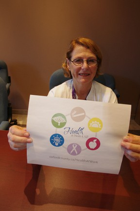 Public health nurse Iva MacCausland has co-ordinated a new web resource aimed at helping employers enchance workplace wellness. HEATHER RIVERS/WOODSTOCK SENTINEL-REVIEW