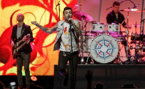 • QMI Agency Hedley, seen here during a performance during Free the Children We Day in Calgary this past fall, will take center stage in Kirkland Lake Friday to help kickoff the first weekend of Homecoming.