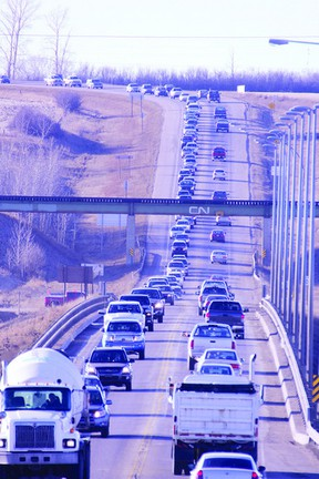 Traffic counters have found their way into Fort Saskatchewan, keeping track of vehicles and patterns along Highway 21 through the city.  File Photo