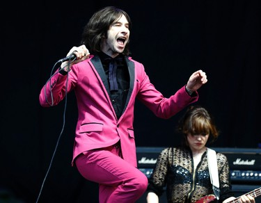Bobby Gillespie from Primal Scream performs on the Pyramid Stage at Glastonbury music festival at Worthy Farm in Somerset, June 29, 2013. REUTERS/Olivia Harris