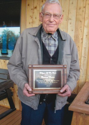 Garnet Grove was named the Gladstone citizen of the year.