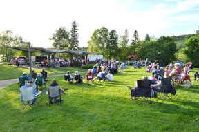 A few hundred people headed to Westview Park in Elliot Lake Monday evening. Photo by KEVIN McSHEFFREY/THE STANDARD/QMI AGENCY