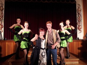 James Patterson with Diamond Tooth Gertie and her Goldrush Girls in Dawson City.  (James Patterson/Submitted Photo)