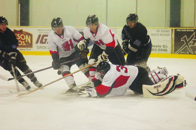 The Hinton Heat face Drayton Valley in a game on Oct. 19 in the Bill Thomson Arena, which resulted in a loss for the local men's team. The Heat cancelled their 2013-14 season last week.