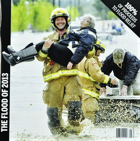 A 48-page glossy flood magazine has been built, chock full of images from the floods that ravaged southern Alberta. The magazine costs $10 and all proceeds go towards flood relief efforts