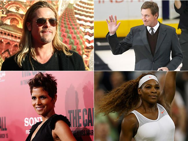 Brad Pitt, Wayne Gretzky, Halle Berry and Serena Williams are your embodiments of genetic perfection. REUTERS FILE