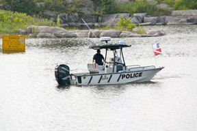Kenora OPP search for a missing swimmer on Sunday morning. A 20-year old man went missing around the Darlington Bay Bridge area Saturday morning, July 13, just after 9 a.m. MARNEY BLUNT/Daily Miner and News