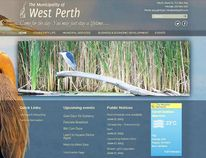 A look at the proposed home page for the new Municipality of West Perth website – concept by eMotivate Marketing and Design.